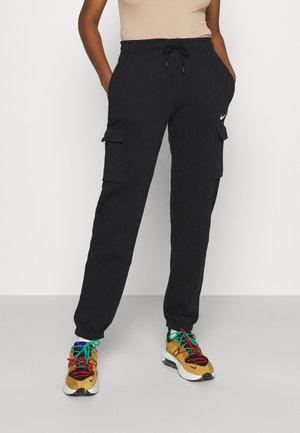 CARGO LOOSE - Tracksuit bottoms - black