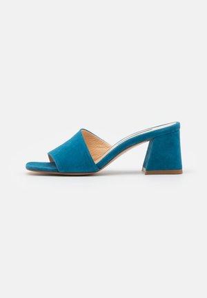 TED MULE - Heeled mules - steel blue