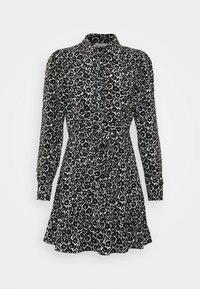 Topshop - FLORAL TIE FRONT MINI - Shirt dress - mono - 4