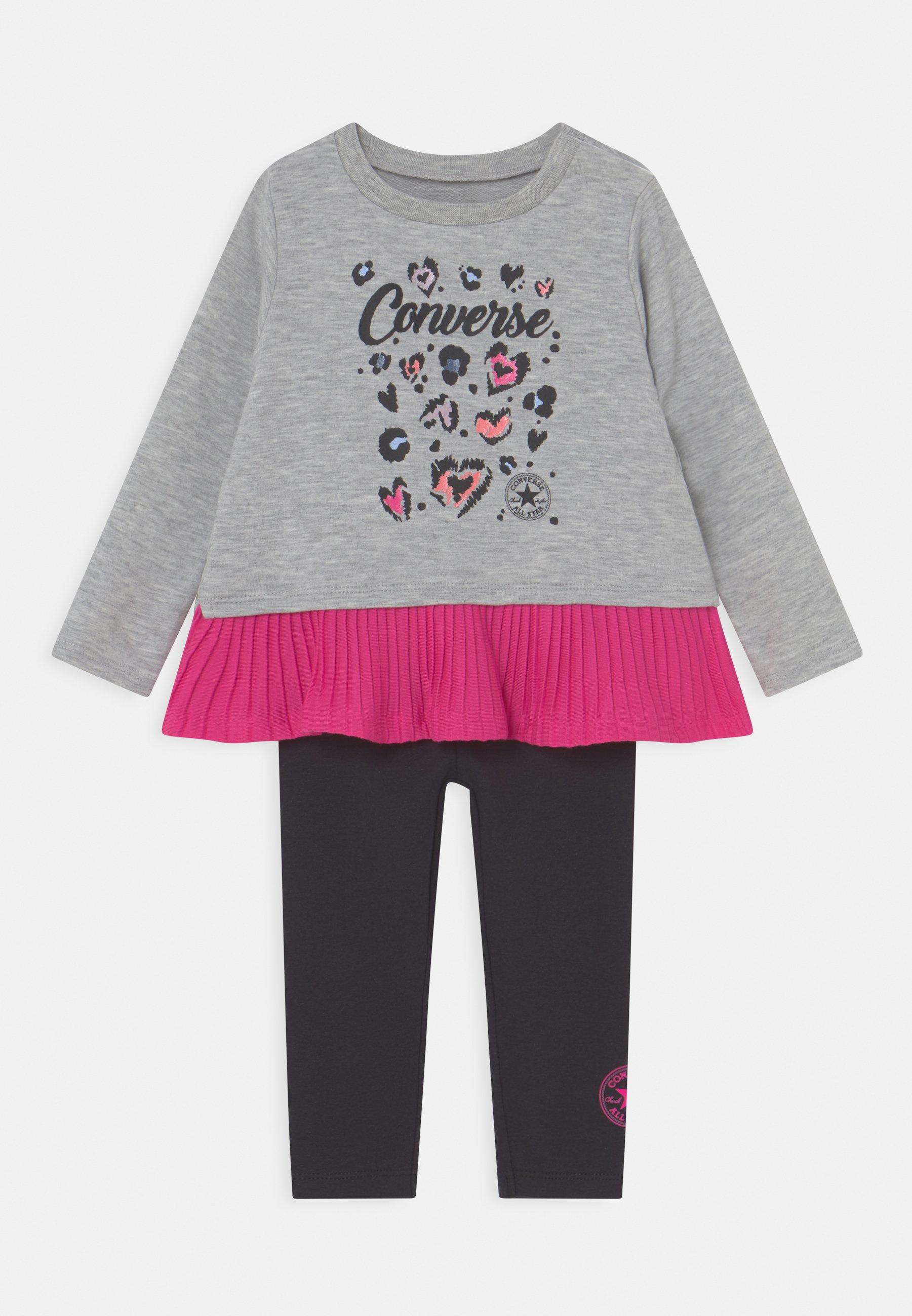Kids PLEATED PEPLUM LONG SLEEVE SET - Sweatshirt