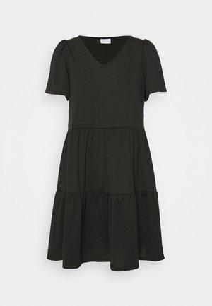 VIEDENA V-NECK DRESS - Jerseyjurk - black
