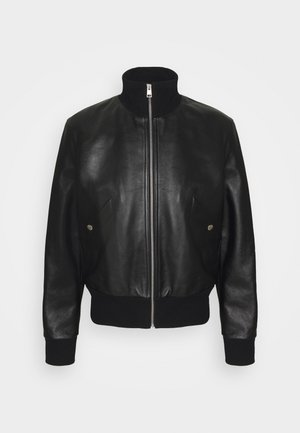 BOMBER JACKET - Faux leather jacket - noir