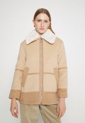 MIXED MEDIA MOTO - Classic coat - camel multi