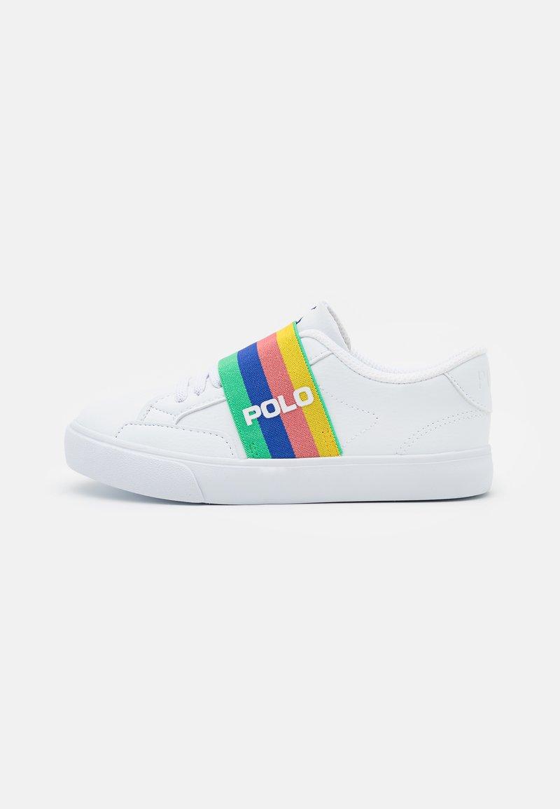 Polo Ralph Lauren - THERON SLIP ON UNISEX - Tenisky - white tumbled/rainbow gore/royal