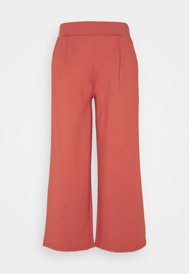 KATE WIDE - Trousers - hot sauce