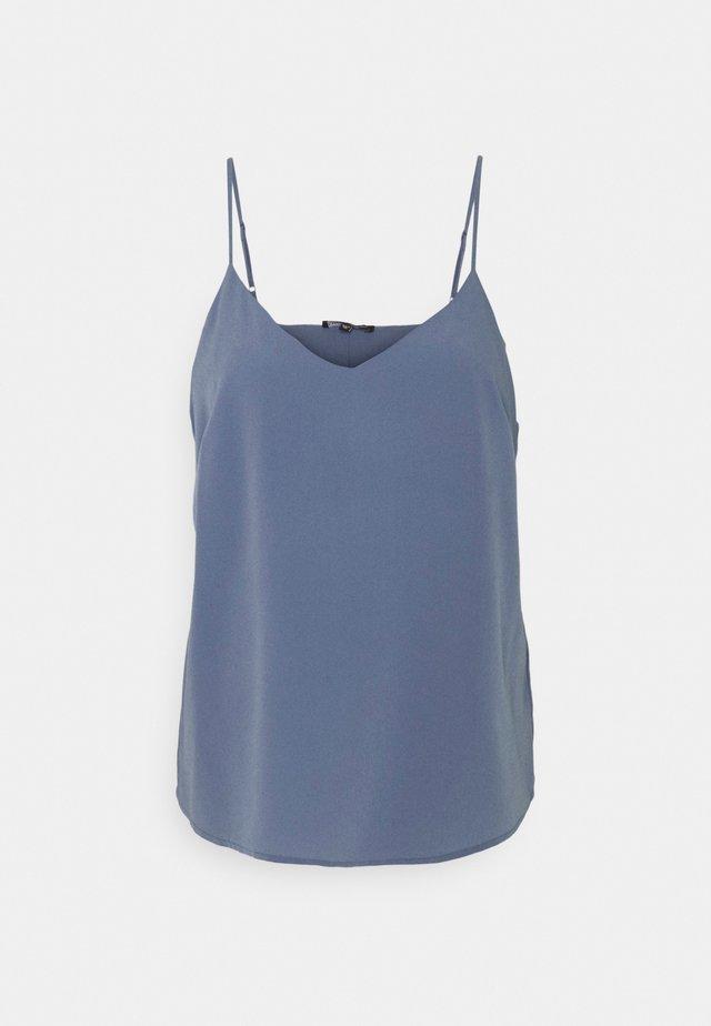 PLAIN STRAPPY CAMI - Top - smokey blue
