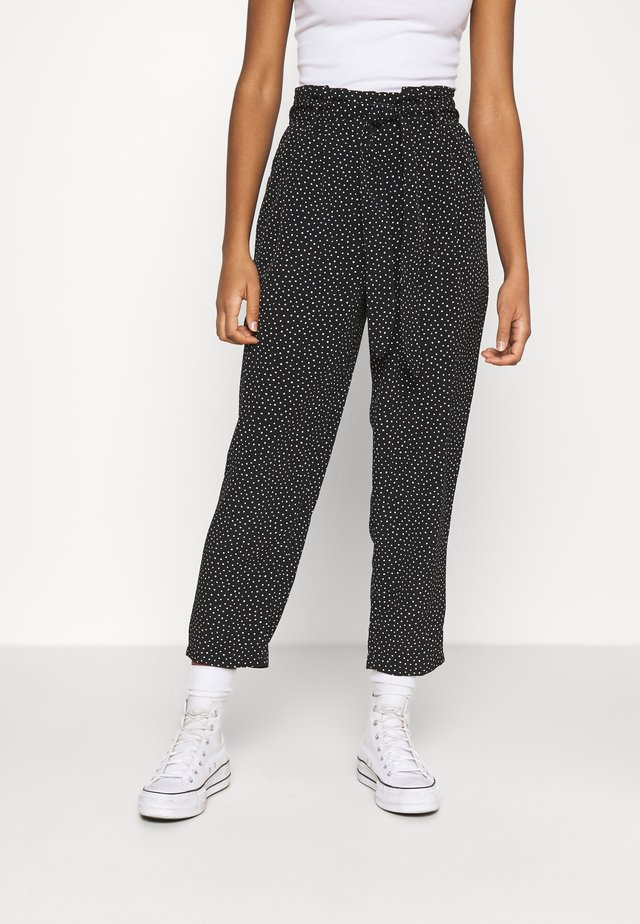 SADIE POLY TROUSERS - Kangashousut - black