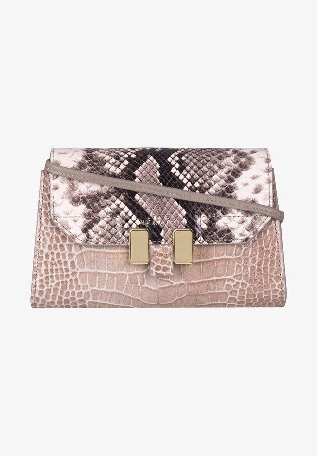 LILIA NANO - Across body bag - taupe snake croco