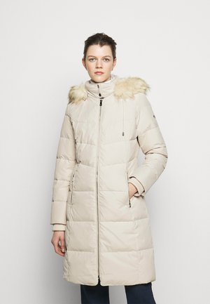 HAND COAT HOOD - Down coat - moda cream