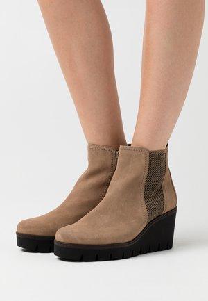 Ankle boots - desert cognac
