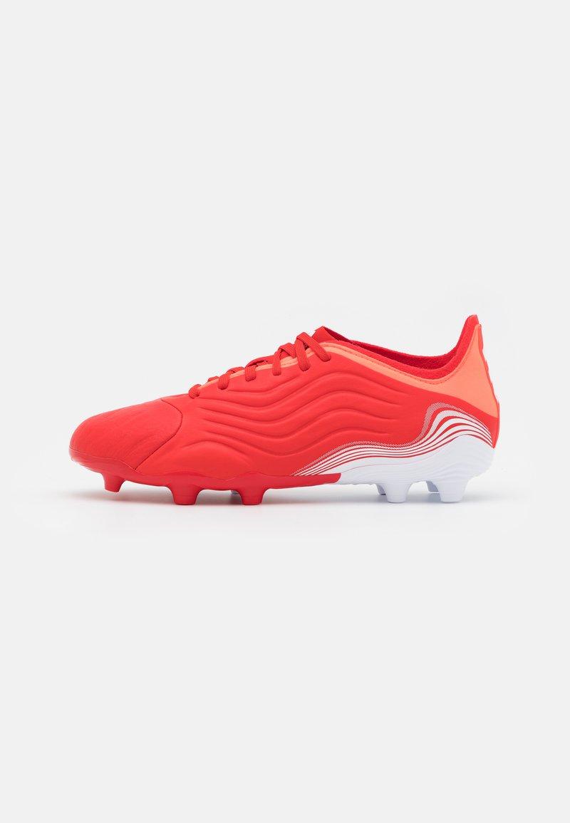 adidas Performance - COPA SENSE.1 FG UNISEX - Kopačky lisovky - red/footwear white/solar red