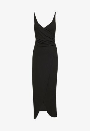 BUTTON DETAIL LONG DRESS - Sukienka koktajlowa - black