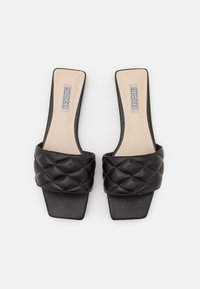 Nly by Nelly - PADDED SLIP IN SQUARE FLAT - Mules - black - 5