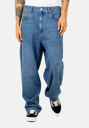 BAGGY - Jeans Straight Leg - faded mid blue