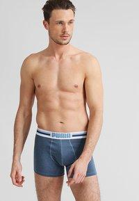 Puma - BASIC 2 PACK - Panties - blue - 0
