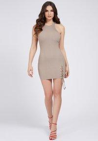 Guess - ALEXA TIE  - Shift dress - beige - 1