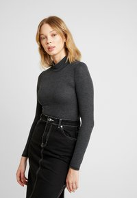 BDG Urban Outfitters - COSY FUNNEL NECK - Langærmede T-shirts - grey - 0