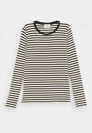 STRIPE MIX TALIKA - Camiseta de manga larga - off white/black
