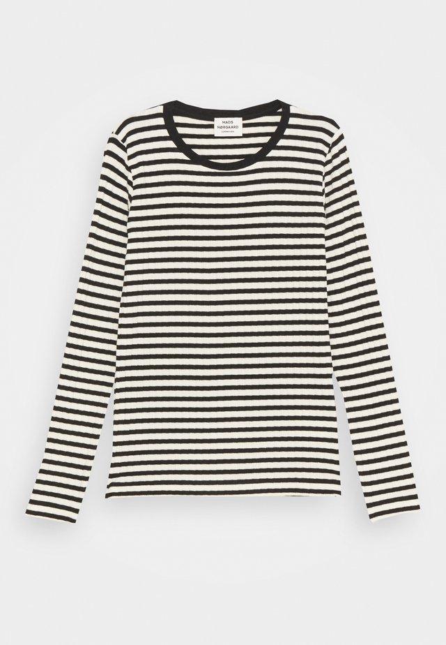 STRIPE MIX TALIKA - Maglietta a manica lunga - off white/black