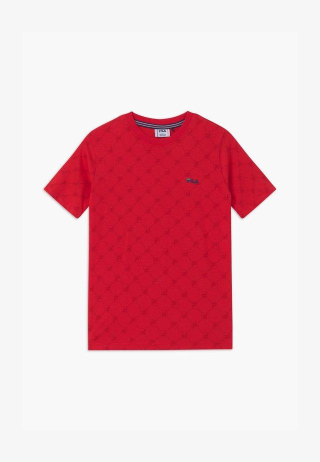 FLAVIO  - T-shirt con stampa - true red