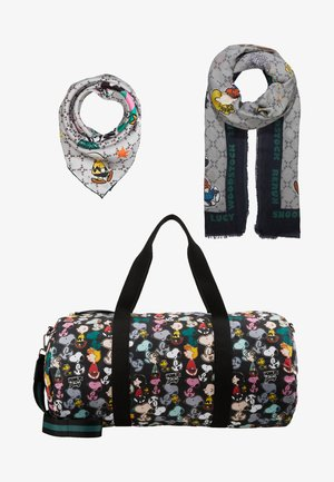 PEANUTS PRINT SET - Weekend bag - black