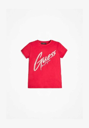 T-shirt con stampa - fuchsia
