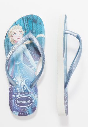KIDS SLIM FIT FROZEN ELSA & ANNA - Pool slides - white