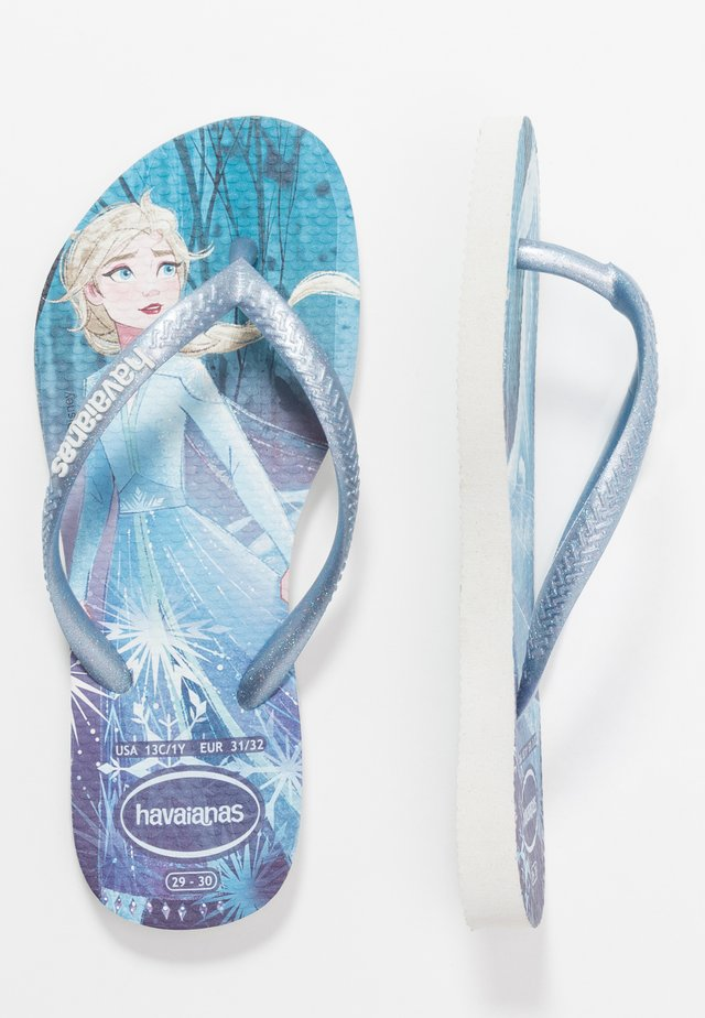 KIDS SLIM FIT FROZEN ELSA & ANNA - Chanclas de baño - white
