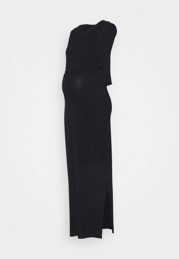 NURSING DRESS - Maxikjole - black