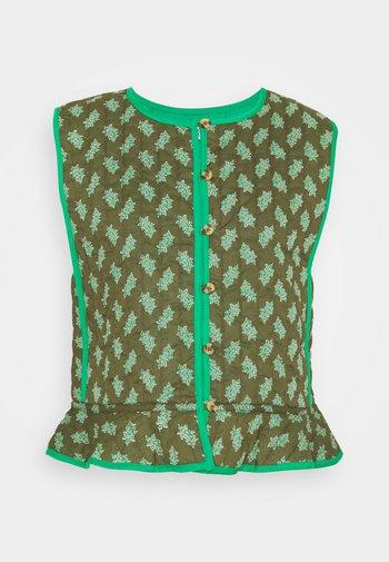 Waistcoat - print green