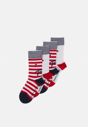 KIDS SOCK STRIPE 4 PACK UNISEX - Socks - white