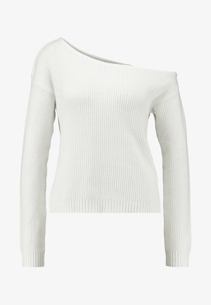 BASIC-OFF SHOULDER - Pullover - off-white