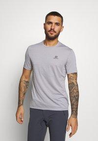 Salomon - TEE - T-shirt basic - alloy/heather - 0