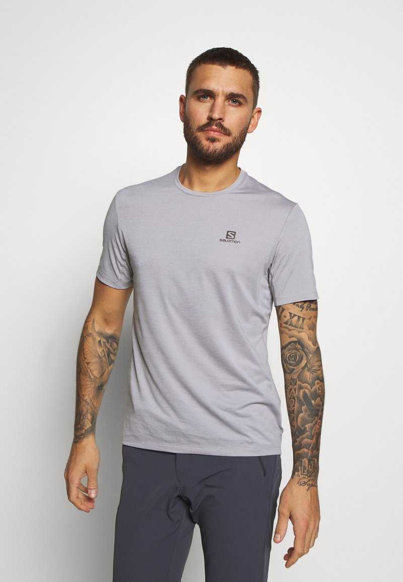 Salomon - TEE - Jednoduché triko - alloy/heather