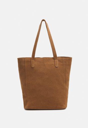LEATHER - Tote bag - tan