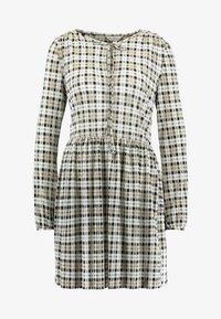 Miss Selfridge - CHECK SMOCK DRESS - Hverdagskjoler - black/white - 5