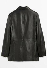 Massimo Dutti - Leather jacket - black - 1