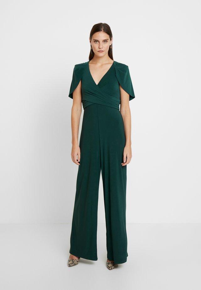 DRAPED JUMPSUIT - Haalari - dusty emerald