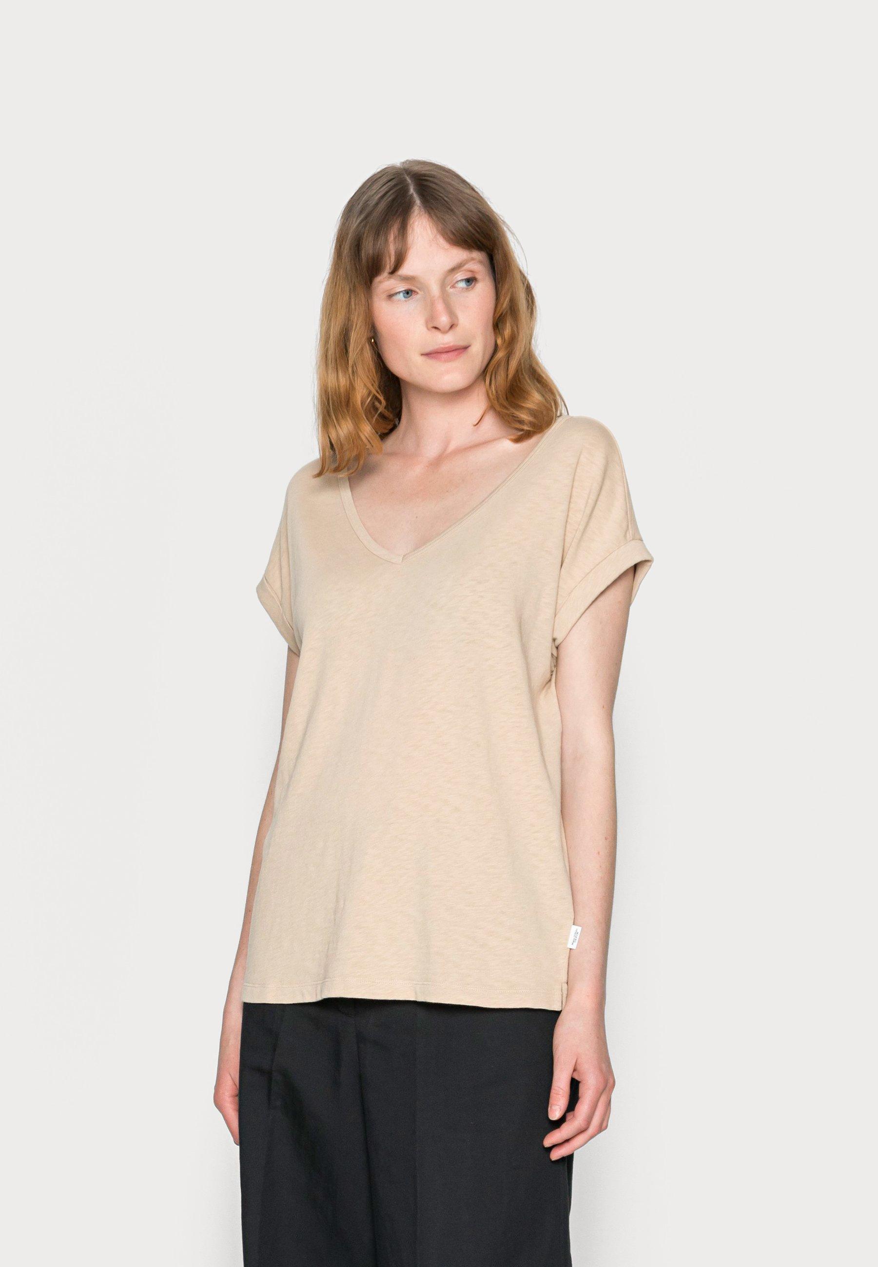 Women SHORT-SLEEVE WIDE BODYSHAPE V-NECK - Basic T-shirt