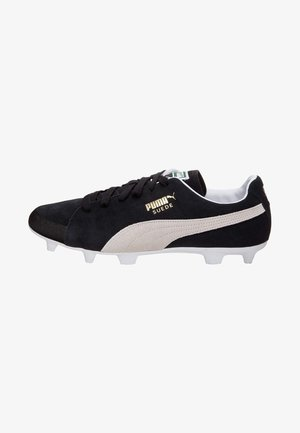 FUTURE SUEDE 50 FG/AG - Moulded stud football boots - black / white
