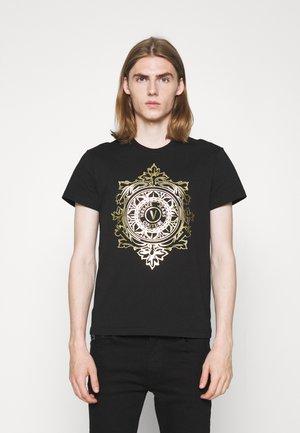 T-shirts print - nero/oro