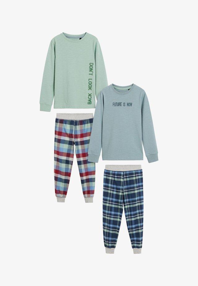 2 PACK CHECK - Pyjamas - blue