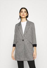 Vero Moda - VMCHECK 3/4 LONG - Krátký kabát - dark grey melange - 0