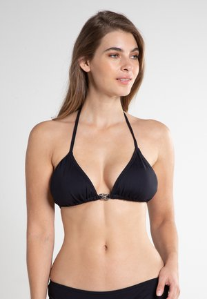 RADIANT CHAIN SOLIDS TRIANGLE - Bikiniöverdel - black