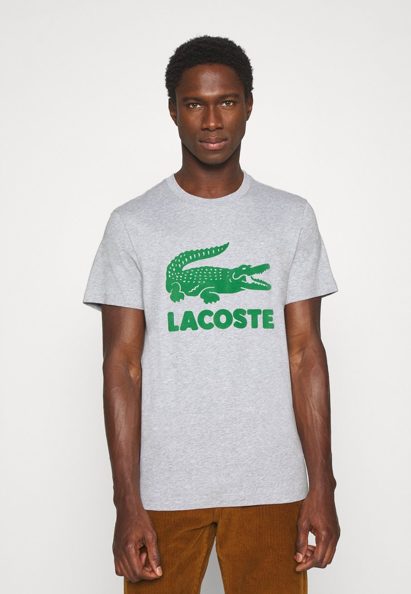 Lacoste - T-shirt con stampa - silver chine