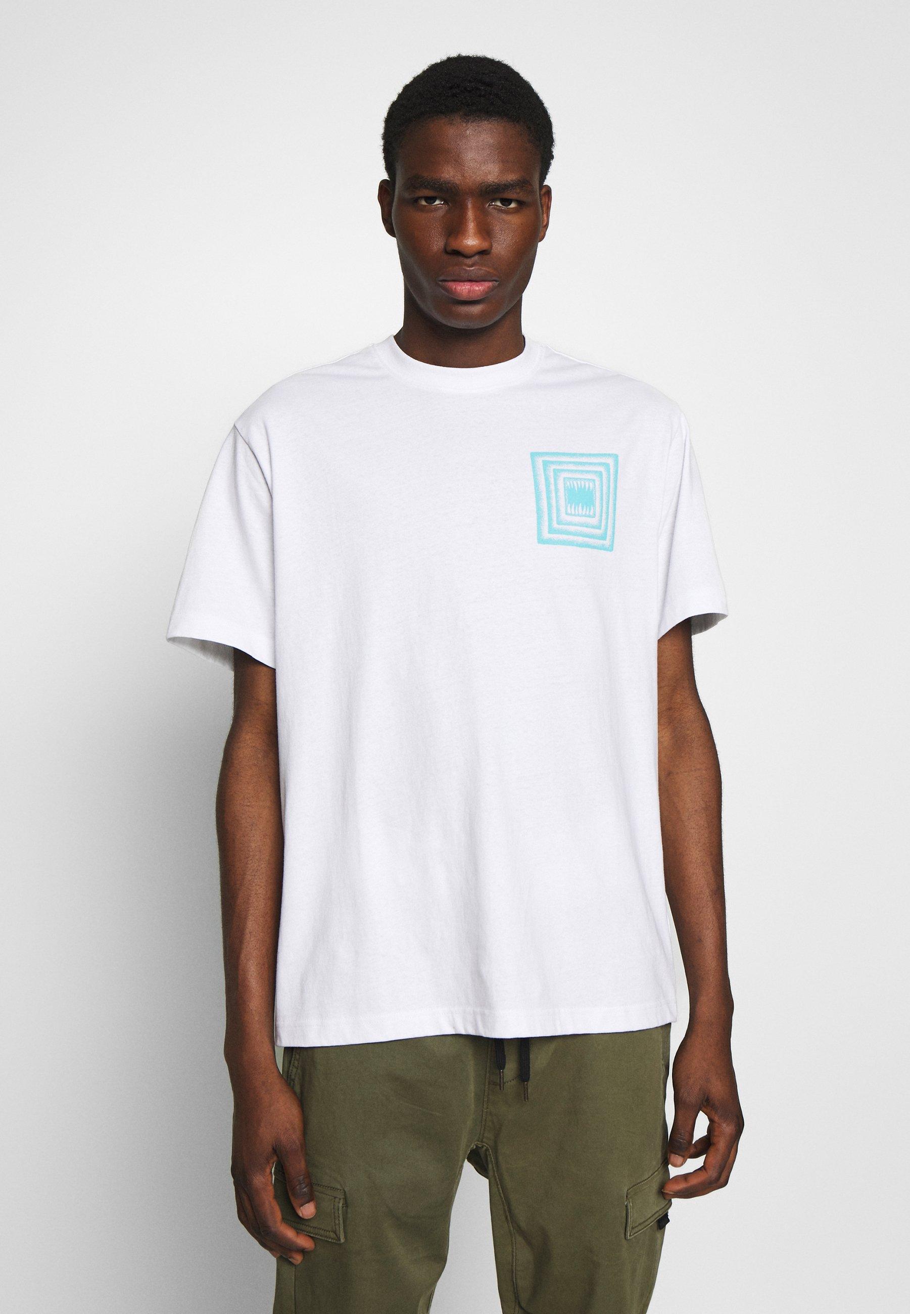 Element SPACE TYPHOON - Print T-shirt - optic white Za0YV
