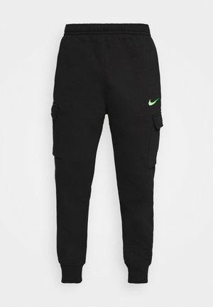 ZIGZAG CARGO PANT - Spodnie treningowe - black