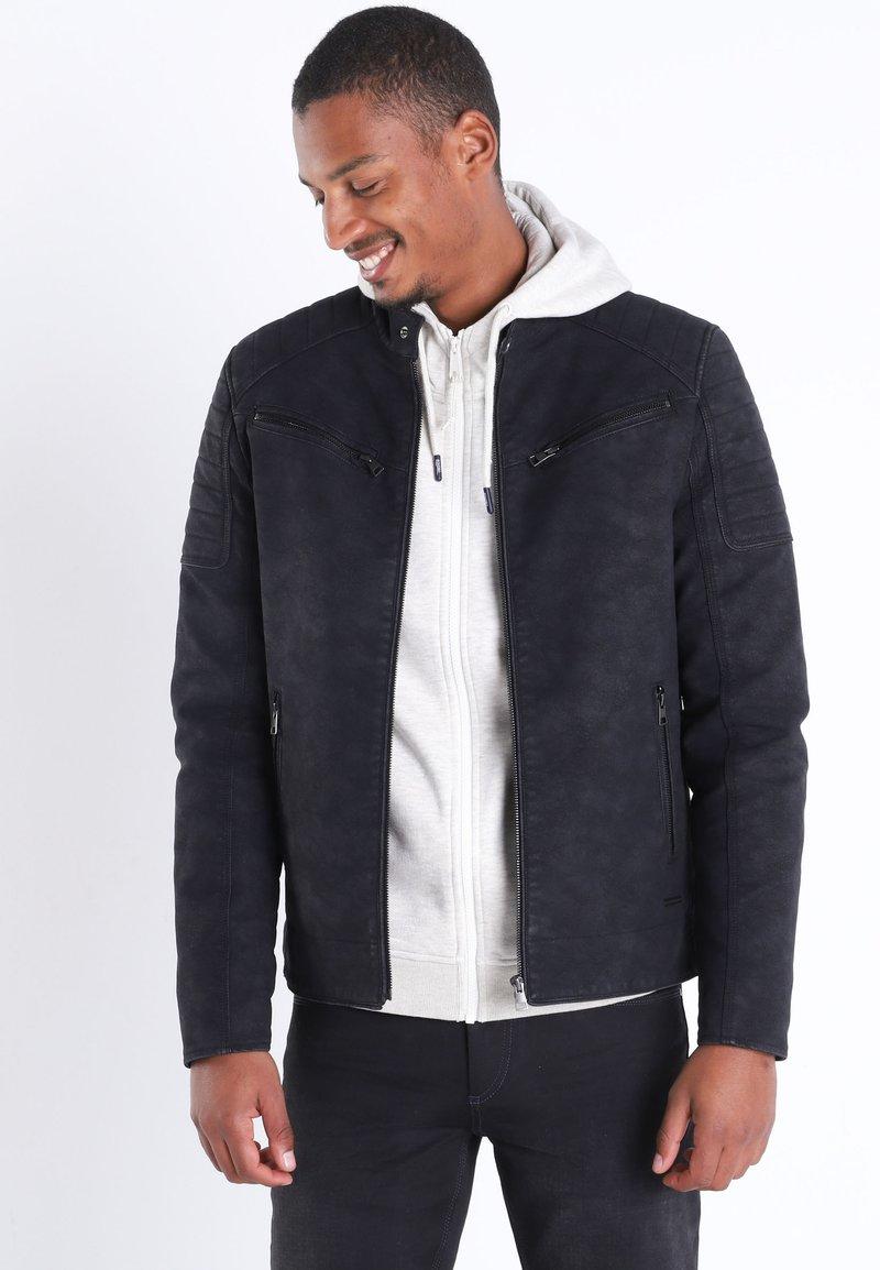 BONOBO Jeans - Veste en similicuir - black