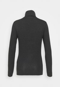 Vero Moda Tall - VMAVA LULU ROLLNECK - Langarmshirt - dark grey melange - 1