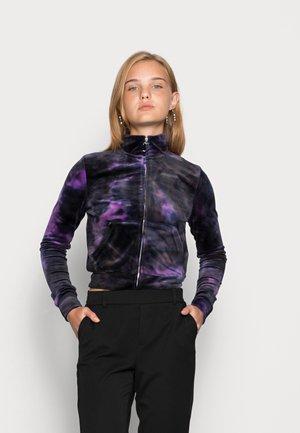 LIEU TIE DYE TRACK - Sweater met rits - sparkling grape
